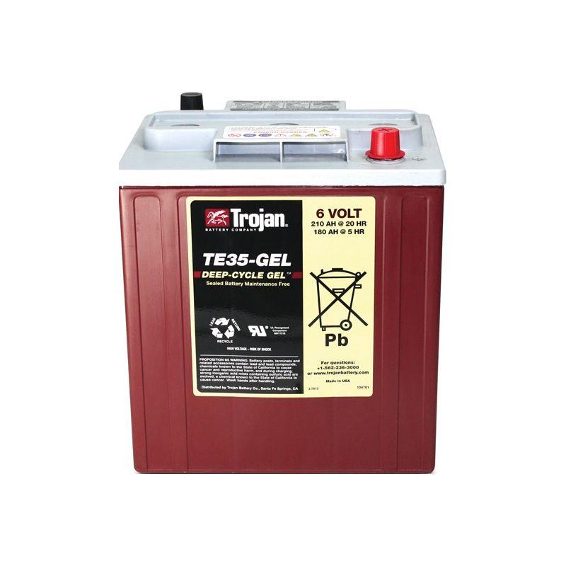batterie trojan te35 gel trojan battery 6v batteries au plomb. Black Bedroom Furniture Sets. Home Design Ideas
