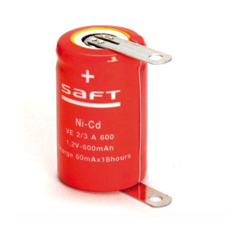 Saft 1.2V 600mah (1/2A 2/3A)