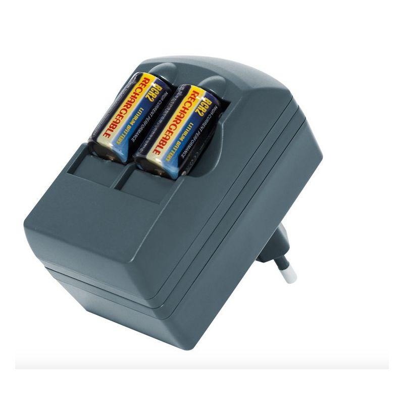 Chargeur + batterie CR2 Batteries au Lithium rechargeable