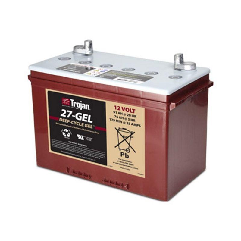 batterie trojan 27 gel trojan battery 12v batteries au plomb. Black Bedroom Furniture Sets. Home Design Ideas