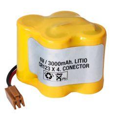 Lithium 6V batterie 3600mAh