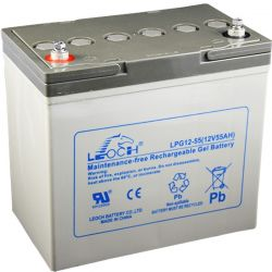 Gel de la batterie Leoch 12V 55Ah