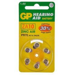 Pilas audífonos GP Mod.ZA10 (Pack 60 pilas)