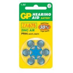 Pilas audífonos GP Mod.ZA675 (Pack 60 pilas)