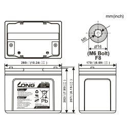 Batterie GEL LONG 12V 75Ah