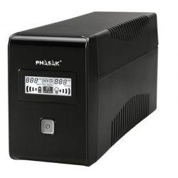 UPS Phasak 1000VA LCD USB avec protection pour connecteur RJ45