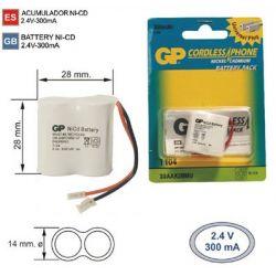 Batterie Téléphone sans fil Q104 2,4 V 300 mah