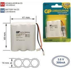 Batterie Téléphone sans fil T110 3,6 V 600mAh