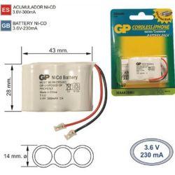 Batterie Téléphone inalambrico T107 3.6 V 300mAh