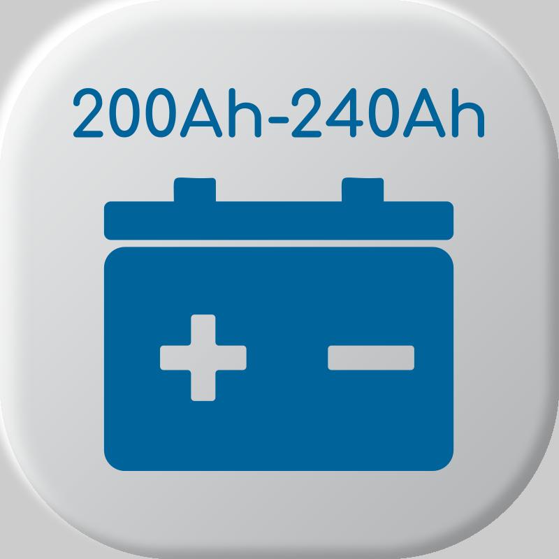 De 200Ah à 240Ah